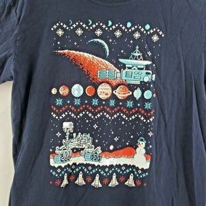 Christmas Space Pixel Ugly Christmas Sweater T Shi